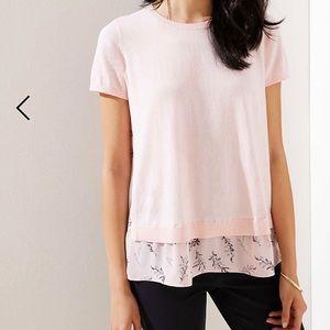 Ann Taylor Loft Short Sleeve Sweater. Pink Size M